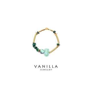 [網路價]Vanilla Jewelry獨家設計款- 「荊棘的嫉妒」純手工天然石黃銅手鍊-可客製