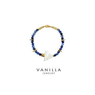[網路價] Vanilla Jewelry獨家設計款- 純手工天然石黃銅手鍊-可客製