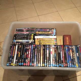 Lot Of 125 dvd's