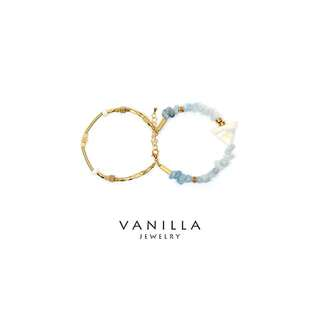 [網路價] Vanilla Jewelry獨家設計款- 純手工天然石黃銅手鍊-雙鍊款 可客製