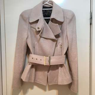 Beige Wool Coat Size 8-10