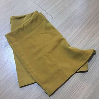 Yellow High Waist Shorts