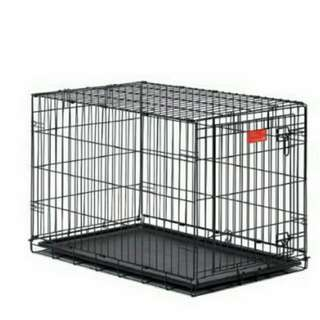 Foldable Dog Cage With Pee Tray