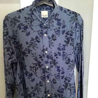 ZARA Blue Floral Long Sleeve