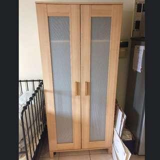 IKEA ANEBODA衣櫃 木紋色