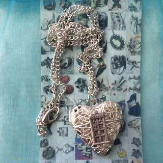 Sterling Silver Doctor Who Tardis Locket Necklace