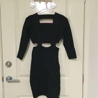 Guess cut-out Jet black dress