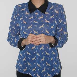 reindeer collar shirt