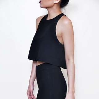 Sleeveless Crop Top And Culottes Set