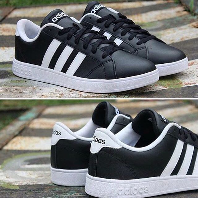Adidas Neo Baseline Black White Strip 2dadba96b