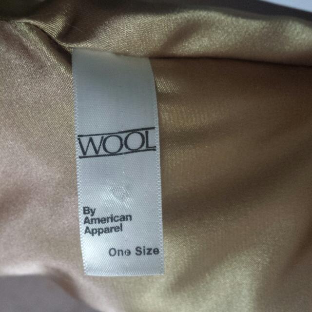 American Apparel Wool Cape in Camel/Tan