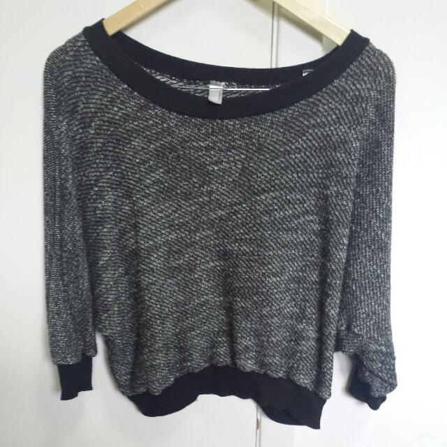 American Apparel Sweater in Black/white