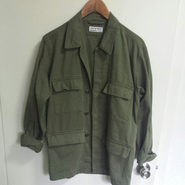 American Apparel Tweed Military Jacket