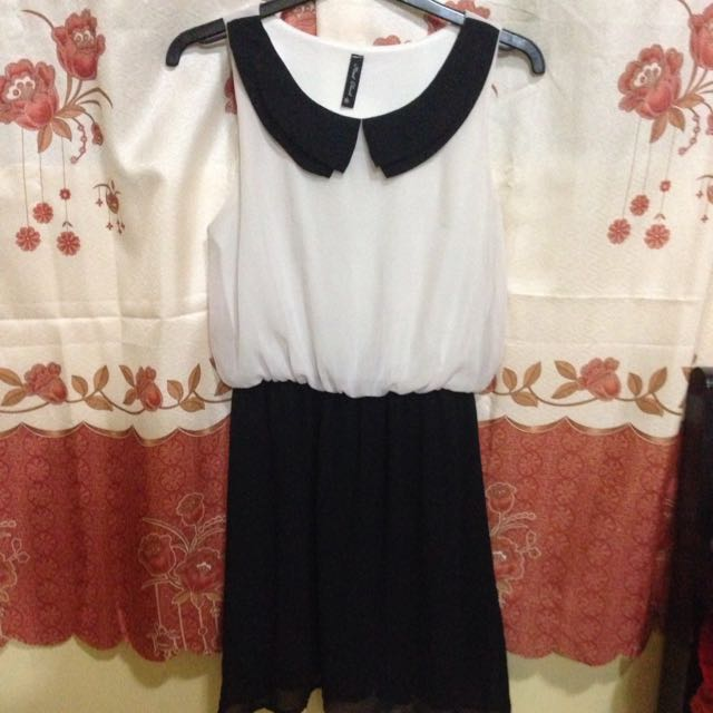 Black & White Collared Dress