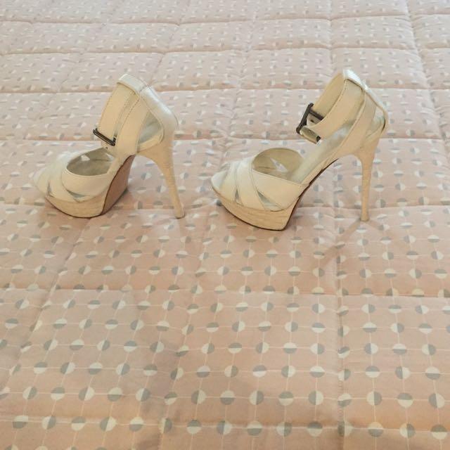 Burberry White Heels