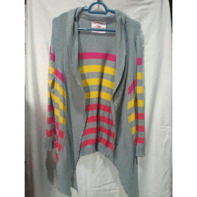 "CARDIGAN GARIS ""NINETY DEGREES"""