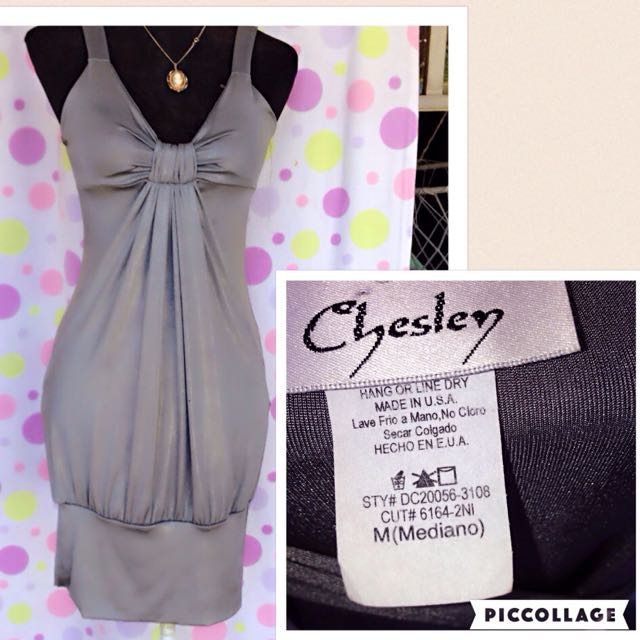 Chesley silver dress