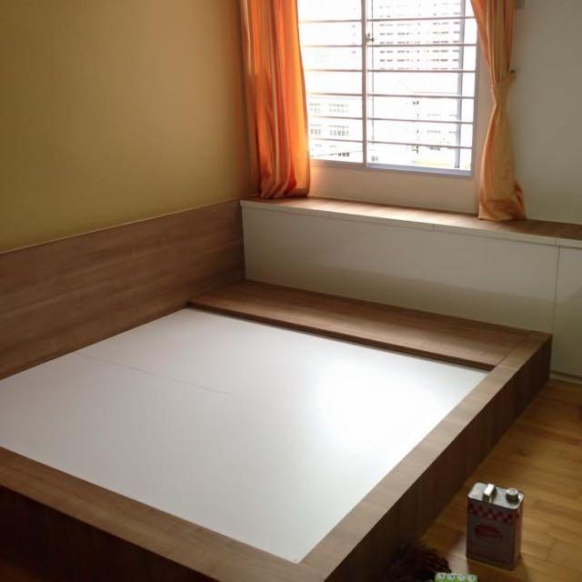 Customized Bedroom/ Platform Bed And Wardrobe