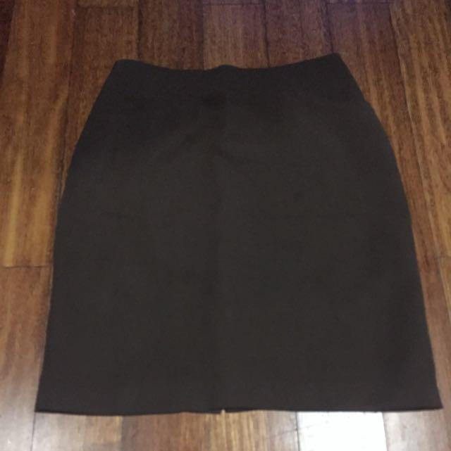 Dark Brown Formal Skirt