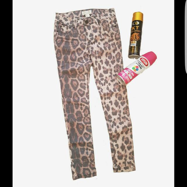 Forever 21 Leopard Print Pants