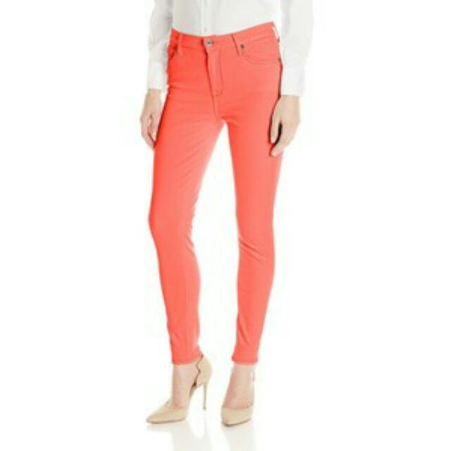 GAP 1969 ALWAYS SKINNY SKIMMER NEON LT ORANGE JEANS