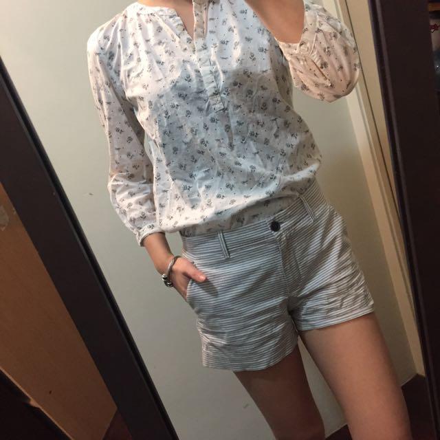 gap條紋短褲