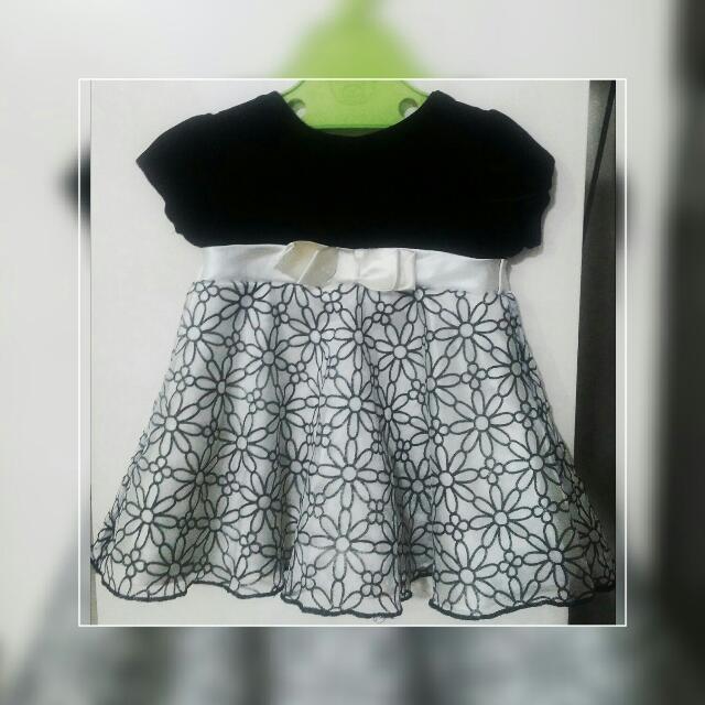 George Black & White Dress