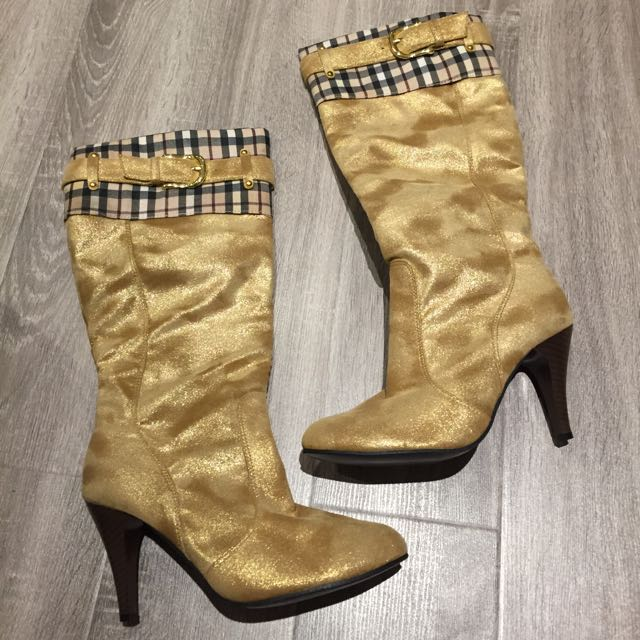 Gold Buckle Boots