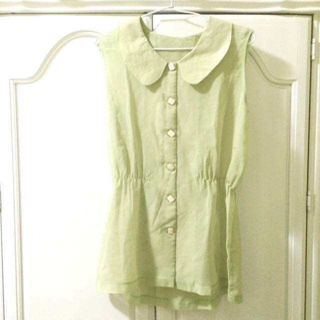 Green Blouse Preloved