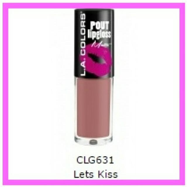 L.A Colors Matte Pout Lipgloss Let's Kiss