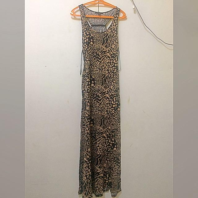 ***Reserved Forever21 Leopard Aztec Long Dress