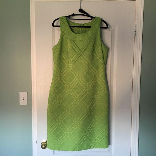 Lime Green Halter Neck Evan-Picone Dress