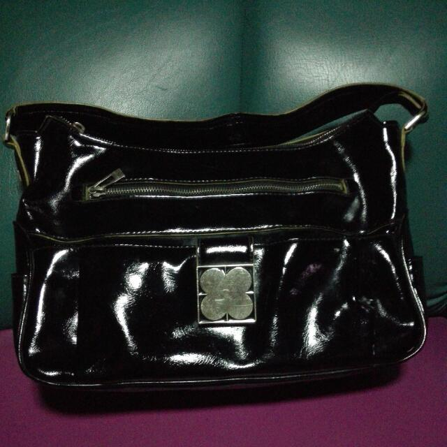 My Sister's Pre Loved Liz Claiborne Shoulder  Black Bag  Please Manage Ur Expectations.. Still In Good Condition..