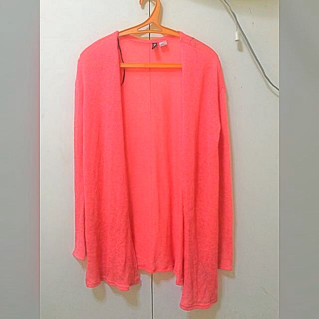 Reserved*** H&M Neon Pink Long Cardigan