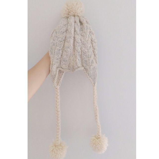 二手🌸NET銀白色毛帽