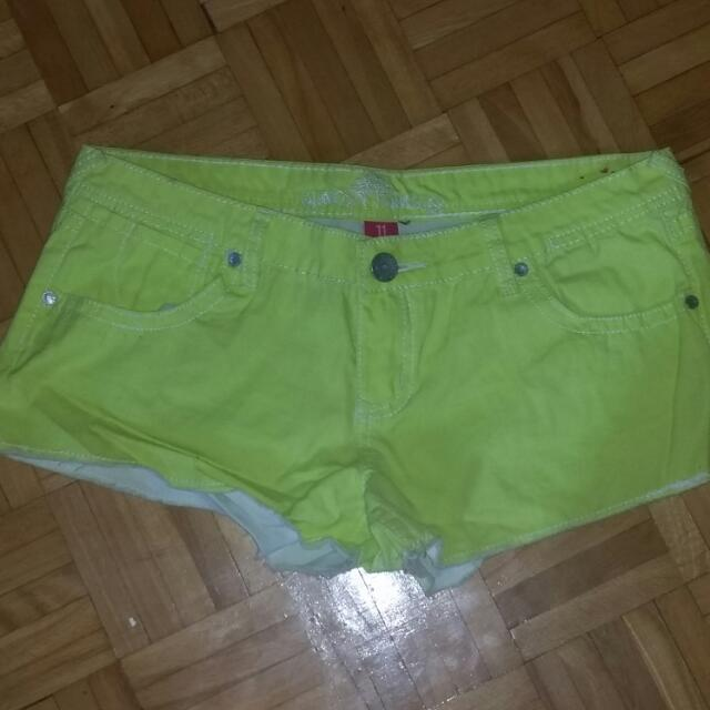 Never Worn Bright Neon Shorts ; Size 11