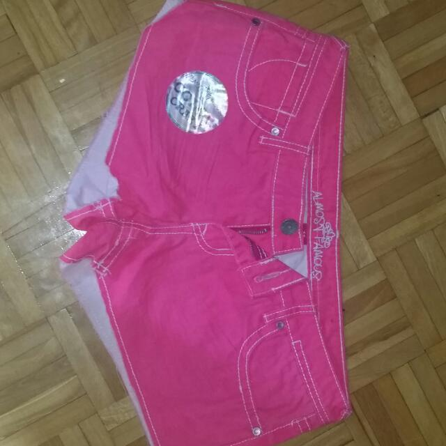 Never Worn Neon Pink Shorts Size 11