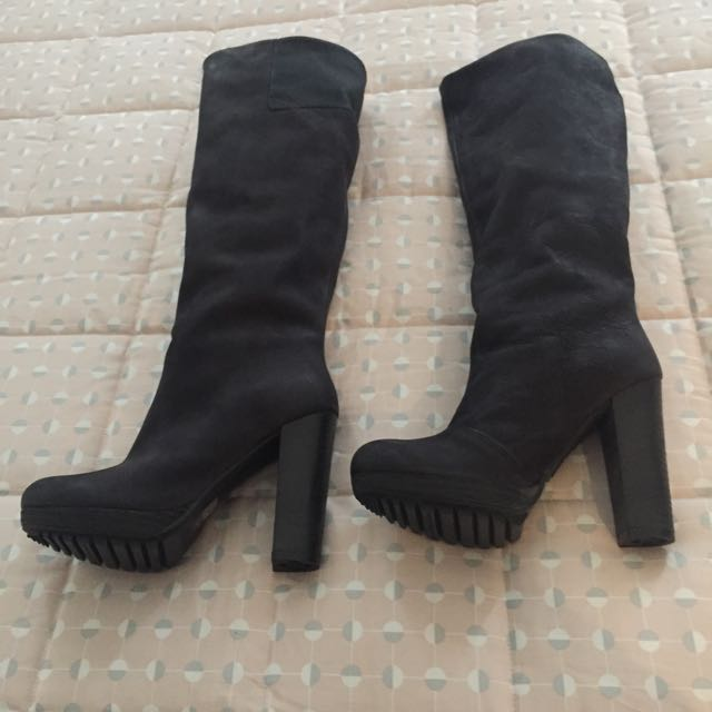 New: G-Star Black Leather Boots Size 7