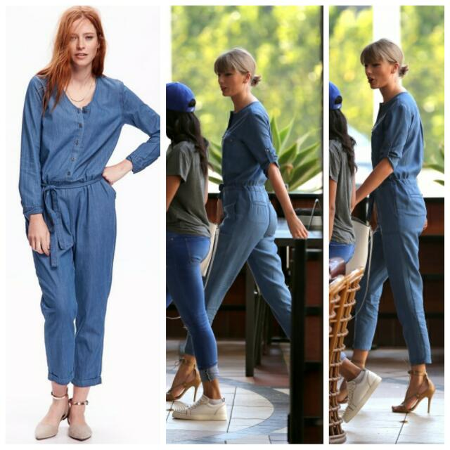 Old Navy Chambray Jumpsuit Original Bnwot