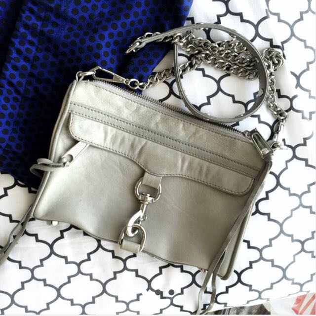 Rebecca Minkoff Mini Mac (Slate Grey, Silver Hardware)