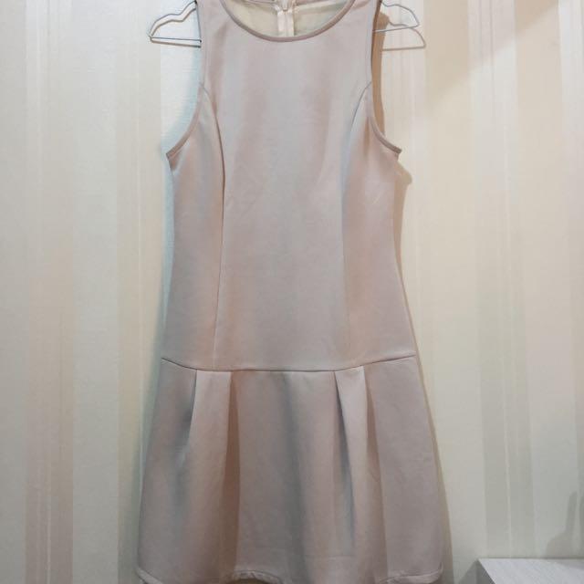 See-thru Back Nude Dress