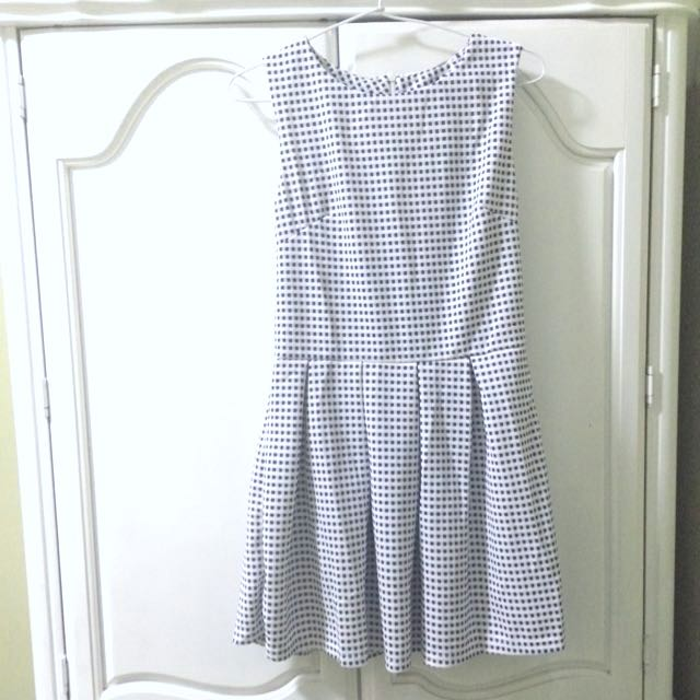 Skater Checkered Dress Preloved