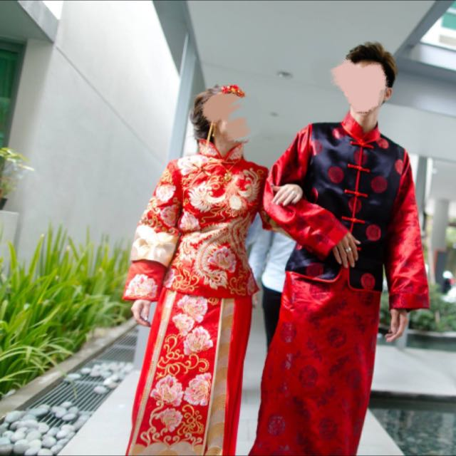 2d12a29a6 Traditional Chinese Wedding Costume (kua), Women's Fashion, Clothes ...