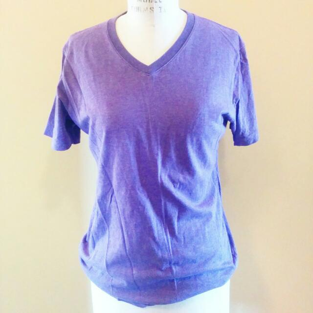 Uniqlo Purple Vneck