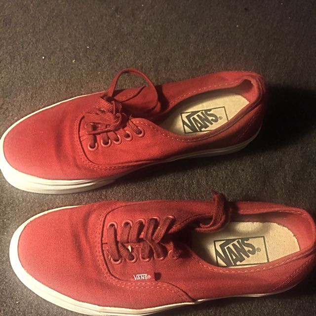 Unisex Vans Shoes (red)