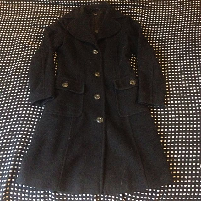 Vintage Knee-Length Coat