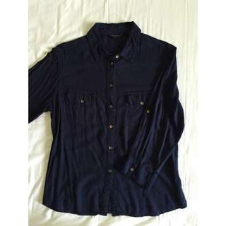 Navy Top By The Executive