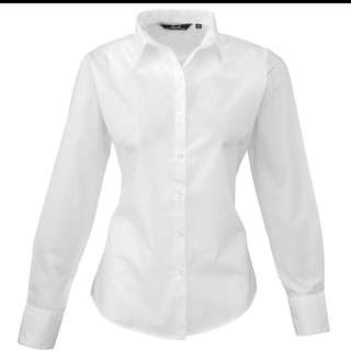 Looking For White Long Sleeve Blouse