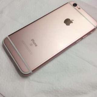 (誠可議)I phone 6s(4.7吋) 64g 正反面都有貼膜 玫瑰金 使用未滿一年