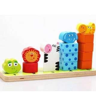Animal Wooden Educational Set - Sort & Stack Them Up #summer40